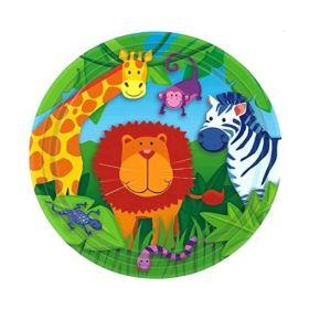 Jungle Animals Party Plates 18cm, pk8