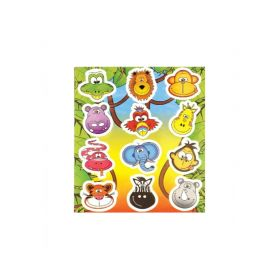 Jungle Animals Stickers Sheet