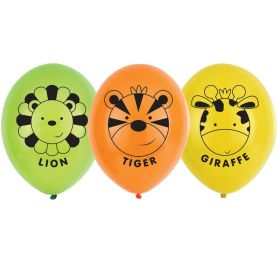 Jungle Friends Latex Balloons