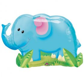 Jungle Party Elephant SuperShape Foil Balloon