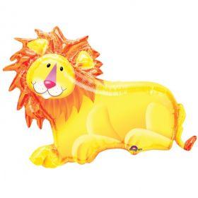 """Jungle Party Lion SuperShape 35""""/89cm W X 25""""/64cm H"""