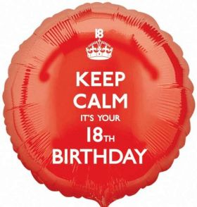 "Keep Calm It's Your 18th Birthday 17"" Foil Balloon"