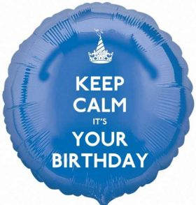 "Keep Calm It's Your Birthday 17"" Foil Balloon"