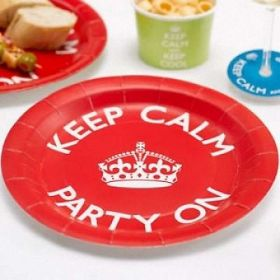 Keep Calm Party On Party Plates