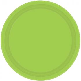 Kiwi Green Paper Plates 23cm, pk8