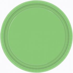 Kiwi Green Paper Party Plates, 22.8cm 8pk