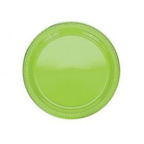 Kiwi Green Plastic Plates 17.7cm 20pk
