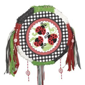 Lively Ladybugs Party Pull Pinata