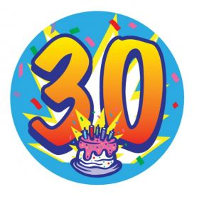 Large 30 Birthday Badge