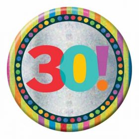 Large Holographic 30th Birthday Badge