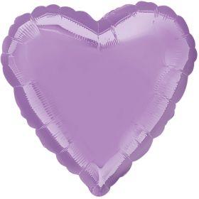 "Lavender Heart Foil Balloon 18"""