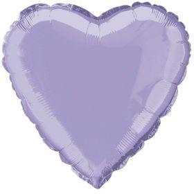 Lilac Lavender Heart Foil Balloon