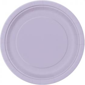 Lilac Paper Plates 23cm, pk8