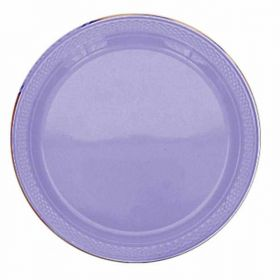 Lilac Plastic Party Plates 22.8cm 20pk