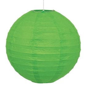 Lime Green Round Lantern Party Decoration 25cm
