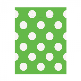 Lime Green Polka Dot Party Bags