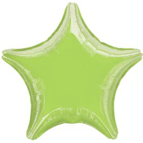 "Lime Green Star Foil Balloon 18 """
