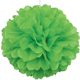 Lime Green Paper Puff Ball Party Decoration 40cm