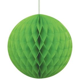 Honeycomb Lime Green Ball Party Decoration 8""