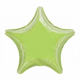 Metallic Lime Green Star Foil Balloon