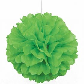 Lime Green Paper Puff Ball Hanging Party Decoration