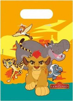 Lion Guard Plastic Party Bags pk6