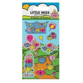 Little Miss Party Bag Stickers, pk6