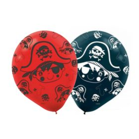 Little Pirate Black Latex Balloons 11'', pk6