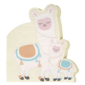 Llama Love Shaped Napkins, pk16