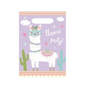 Llama Party Time Party Bags, pk8