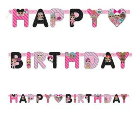 LOL! Surprise Happy Birthday Letter Jointed Banner 1.68m