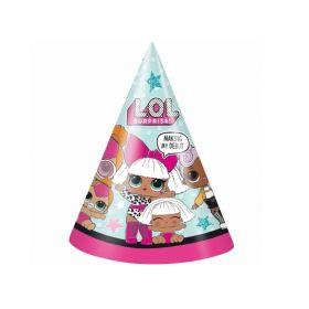 LOL! Surprise Party Hats, pk8