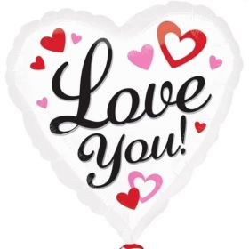 "Love You Heart Foil Balloon 17"""