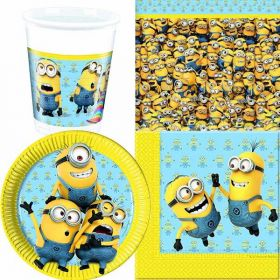 Minions Party Pack For 8 including tableware and 8 filled party bags