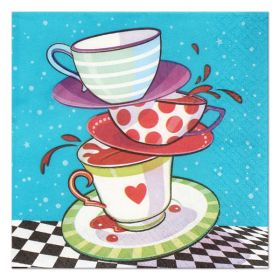 Mad Hatter Tea Party Dessert Napkins pk16