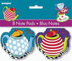 Mad Hatter Tea Party Notepads pk8