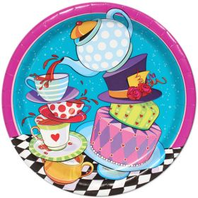 Mad Hatter Tea Party Plates pk8