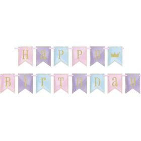 Glitter Magical Princess Birthday Banner 2.74m