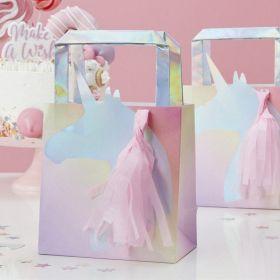 Iridescent ''Make A Wish'' Unicorn Party Bags, pk5