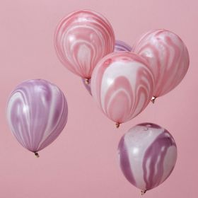 Iridescent Party ''Make A Wish'' Pink & Purple Balloons, pk10
