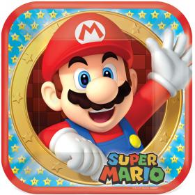 Super Mario Dinner Plates 23cm, pk8