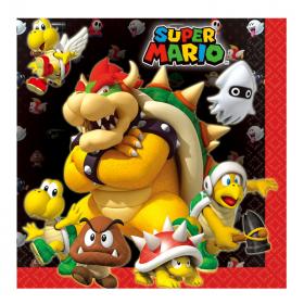 Super Mario Napkins 33cm x 33cm, pk16