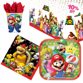 Super Mario Party Tableware Pack for 8