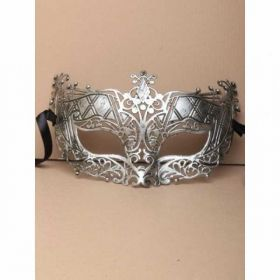 Gold Brushed Metal Effect Filigree Unisex Mask