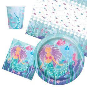Mermaid Party Tableware Pack for 8