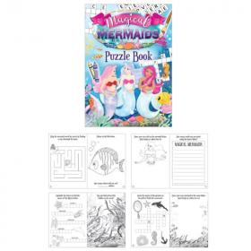 Mermaid Fun Puzzle Book