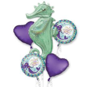 Mermaid Wishes Foil Balloons Bouquet, pk5