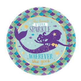 Mermaid Wishes Party Dessert Plates