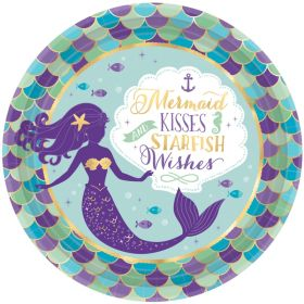 Mermaid Wishes Party Dinner Plates