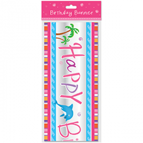 Mermaid Party Birthday Banner